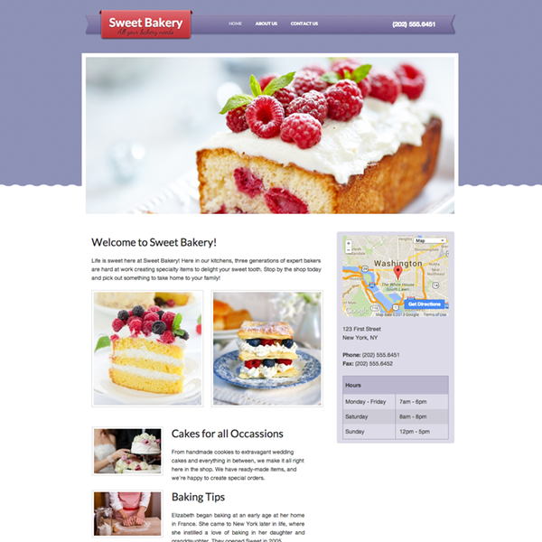 Sample Websites, Free Website Templates, & Themes | Webs