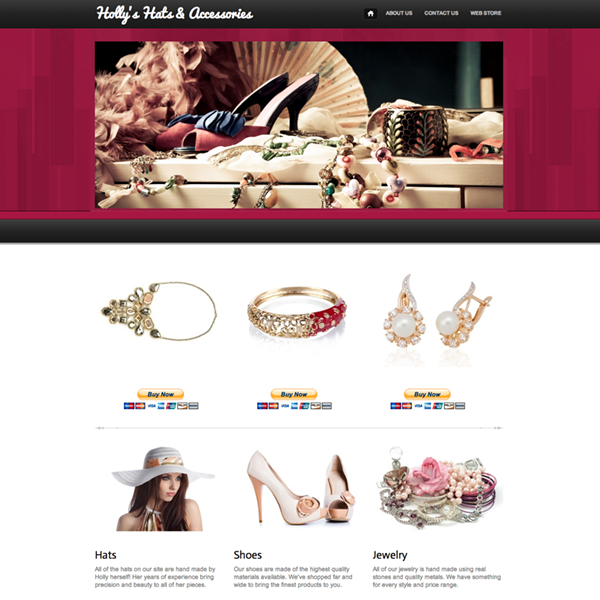 Sample Websites Free Website Templates Themes Webs - Vistaprint website templates